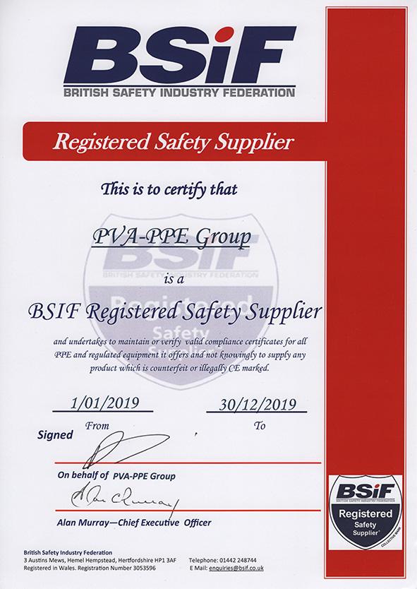 PVA PPE BSIF RSS 2019