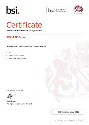 PVA / PPE BSI certificate